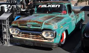 Just A Car Guy: There Were Some Cool Old Ford Trucks At SEMA Too