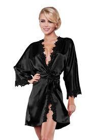 robe de chambre luxe femmes de luxe en soie à manches longues de nuit satin robe de
