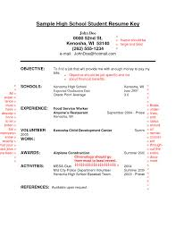 Resume Examples For Highschool Students With No Work Experience Perfect Sample High School