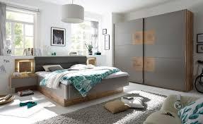 details zu schlafzimmer komplett set 4 tlg bett 180 kleiderschrank grau wildeiche