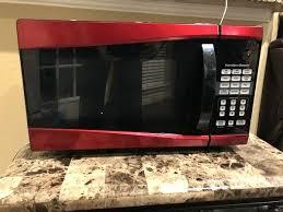 Hamilton Beach Red Microwave Cu Ft 1000 Watt