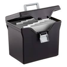 Iris Black Letter Size Portable File Box