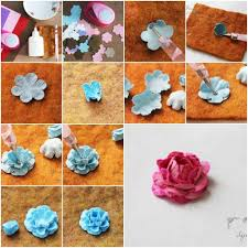 How To Make Flowers Made Of Paper Step By DIY Tutorial Instructions