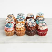 Mixed Edible Photo Cupcakes