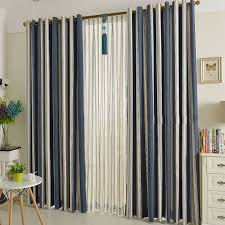 rainbow inspired striped main blue curtains online of blackout