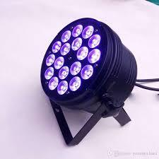 2018 Slim Flat Par Can lights 18x10w Rgbw Led Spot Lighting Stage