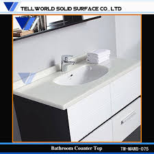 Karran Acrylic Undermount Sinks by Corian Vanity Tos White Solid Surface Counter Corian Bathroom