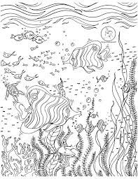 Coloring Page With Beautiful Underwater Scene Drawing By Megan