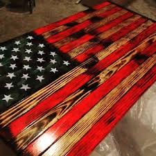 Rustic Wood American Flag Wall Art Aged LARGE House Hold Decor Reclaimed Pallet