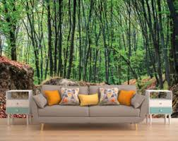 forest wall decal etsy