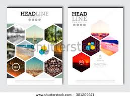 Business Brochure Design Template Vector Flyer Layout Blur Background With Elements For Magazine