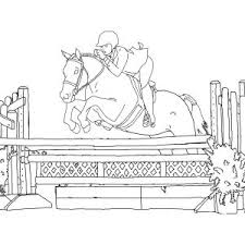 Horse Jumping Coloring Pages Valid Realistic