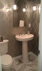 powder room pedestal sink befon for