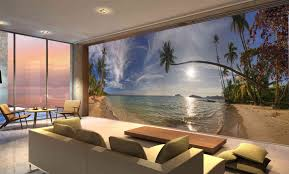 beach living room wall mural carameloffers