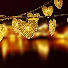 OutopR 20ft 30LED Heart Shaped Cover Solar String Fairy Waterproof