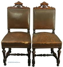 Set Of 6 Antique French Renaissance Dining Chairs, Oak/leather ... Tiger Oak Fniture Antique 1900 S Tiger Oak Round Pedestal With Ding Chairs French Gothic Set 6 Wood Leather 4 Victorian Pressed Spindle Back Circa Room 1900s For Sale At Pamono Antique Ding Chairs Of Eight Chippendale Style Mahogany 10 Arts Crafts Seats C1900 Glagow Antiques Atlas Edwardian Queen Anne Revival Table 8 Early Sets 001940s Extendable With Ball Claw Feet Idenfication Guide