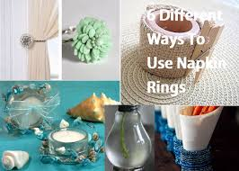 6 Different Ways To Use Napkin Rings