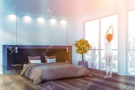 100 White House Master Bedroom Woman In Pajamas Standing In Stylish Master Bedroom Interior