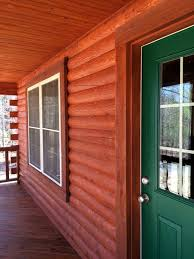 Log Home Staining – Elite Log Home Services