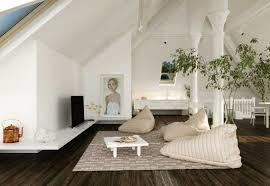gestaltung eines wohnzimmers mit dachschrä trendomat