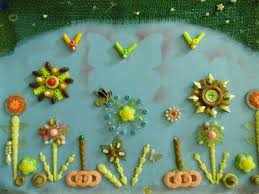 FileHand Made Handicrafts Constitute A Wonderful Plate By Beads And Plastic