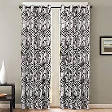 Amazon Zebra Print Window Panel Curtains Set of 2 Home