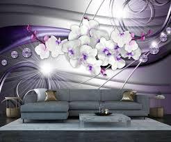 fototapete orchidee diamanten lila fototapeten tapete wandbild abstrakt welle weiß m1666