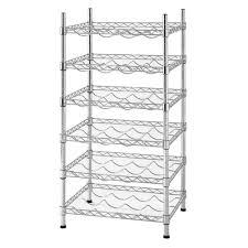 Home Depot Canada Decorative Shelves by Muscle Rack 35 In H X 18 In W X 14 In D 24 Bottle 6 Shelf