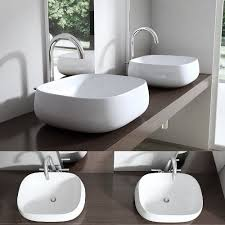 waschtische becken 1 waschbecken keramik eckig oval