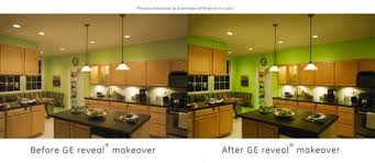 GE Reveal Kitchen Lighting Before After 895x390