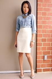 A Fashion Deliberation One Winter White Skirt Five Ways