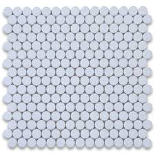 Thassos White 3 4 Inch Penny Round Mosaic Tile Polished