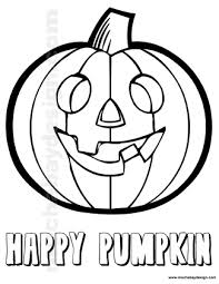 View And Print Happy Pumpkin Halloween Kids Coloring Page