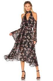 nicholas jumpsuits nicholas chambray deep v off shoulder dress
