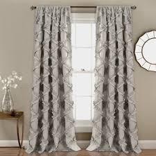 Navy Geometric Pattern Curtains by Curtains U0026 Drapes Birch Lane