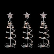 Set Of 3 Clear Lighted Outdoor Spiral Walkway Christmas Trees Decorations 18