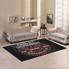 harley davidson motorrad teppich wohnzimmer küchenteppich