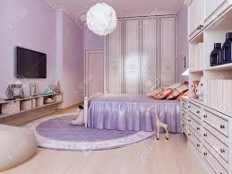 idee helles schlafzimmer für mädchen inspiration für eine schöne moderne mädchen schlafzimmer kinder mit lila wänden und mittleren ton holzböden 3d