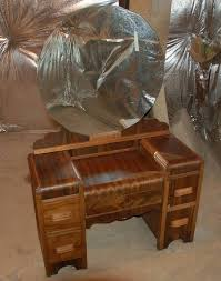 Waterfall Vanity Dresser Set by Dressing Table My Antique Furniture Collection
