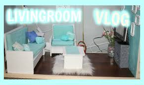 Teal Living Room Set by Vlog Making An American Doll Living Room Furniture And