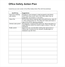 Office Safety Action Plan Template Bnsf Form