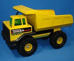 TONKA MIGHTY DIESEL PRESSED STEEL METAL CONSTRUCTION DUMP TRUCK ...