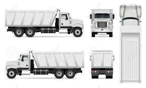100 Dump Trucks Videos Vector Truck Template For Car Branding And Advertising