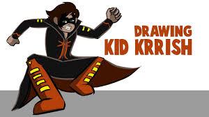 Drawing And Coloring Kid Krrish In Krita