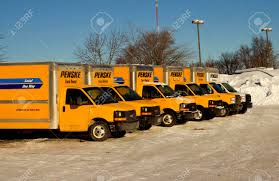 100 Penske Semi Truck Rental RIVER FALLSWISCONSINFEBRUARY 042014 A Row Of Rental