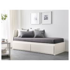 FLEKKE Day bed w 2 drawers 2 mattresses White malfors firm 80x200