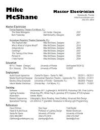 Electrician Resume Sample For