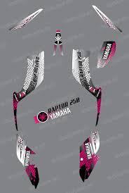kit deco 250 raptor kit decoration pink snake idgrafix yamaha 250 raptor idgrafix