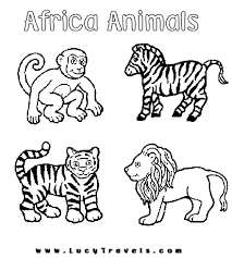 Ideal Printable Jungle Animal Coloring Pages