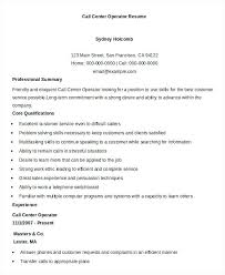 Sample Call Center Resume Example Contemporary Art Websites Customer Service